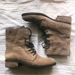 Sam Edelman combat suede lace up boots